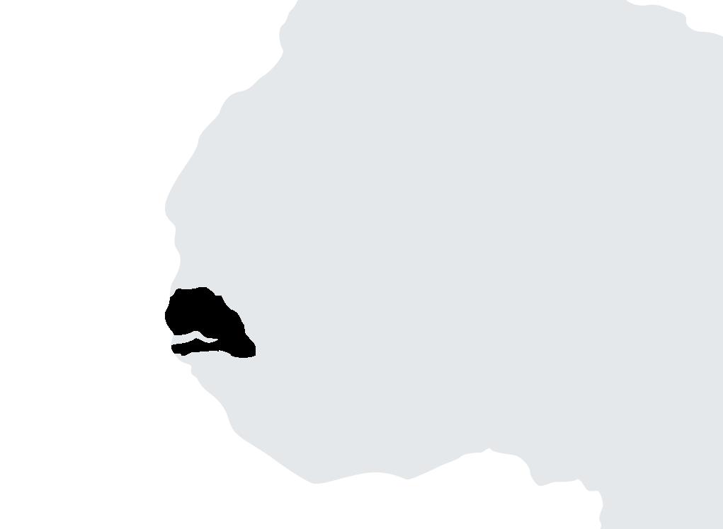 Map Senegal
